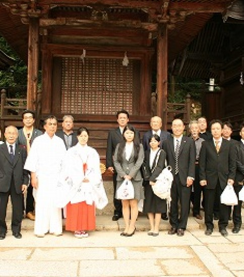 正式参拝(倉敷不動教会)
